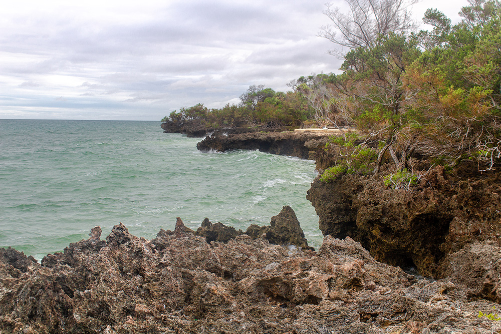 View of Chale Island during high tide