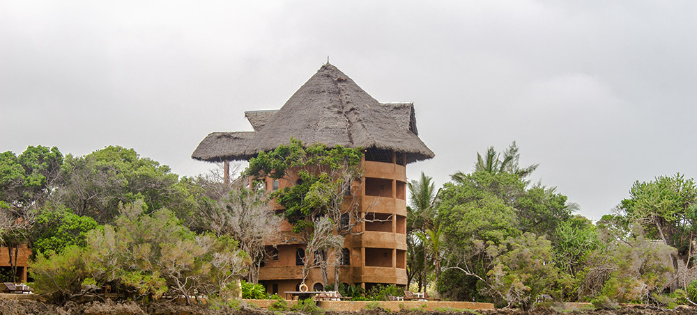 View of the standard rooms at Chale Island